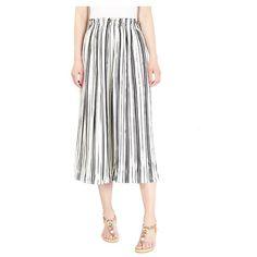 Women Striped Wide Leg Pants Loose High Waist#shorts#and#pants Beach Casual, High Waisted Shorts, Summer Beach, Wide Leg Pants, Midi Skirt, Trousers, Skinny, Dresses, Vestidos