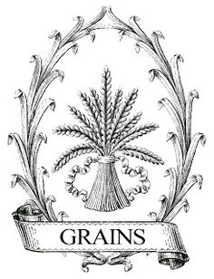 Printable Image Transfer: French Grain Wheat Sack (with reverse image for transfers)...