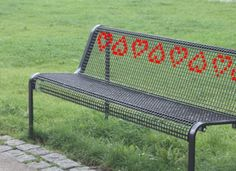 cross stitch benches
