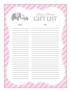 Instant Download Pink Elephant Baby Shower for by Studio20Designs