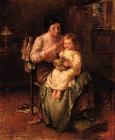 William Kay Blacklock (1872-1922) British Painter ~ Preparing for Bed