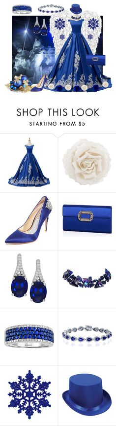 """Snow Queen"" by yournightnurse ❤ liked on Polyvore featuring Reception, Gucci, Badgley Mischka, Roger Vivier and Christian Lacroix"
