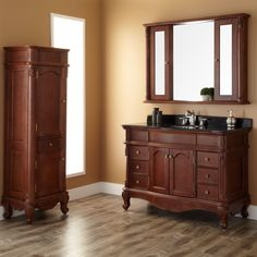 "48"" Sedwick Brown Cherry Vanity really nice with granite but 38 3/4"" H $1,785.95 W Optional med cab $2141.95"