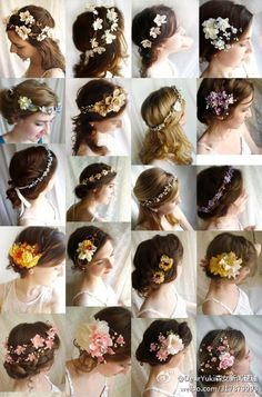 Flowers & Hair.  This would be cute for my bridesmaids' hair.
