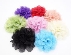 Wholesale Lot 8pcs Handmade Shabby Fabric Mesh Flowers for DIY Headbands Clips #Unbranded  http://www.ebay.com/itm/Wholesale-Lot-8pcs-Handmade-Shabby-Fabric-Mesh-Flowers-for-DIY-Headbands-Clips-/161362119446?pt=LH_DefaultDomain_0&hash=item2591ee8b16