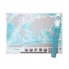 Scratch Map Oceans by Luckies