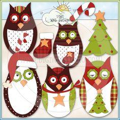 Sweethoots Navidad 1 - No Exclusivo Trina Clark Clip Art