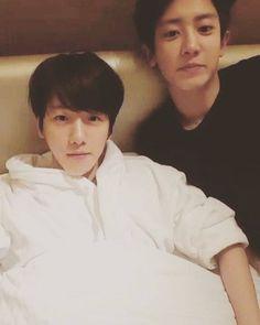 Baek looks so tiny next to Yeol