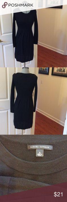 Banana Republic sweater dress Black sweater dress, size small. Very pretty and cozy Banana Republic Dresses Long Sleeve