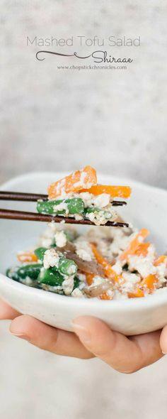 Mashed Tofu Salad or Shiraae is kind of a Japanese salad made  Mein Blog: Alles rund um die Themen Genuss & Geschmack  Kochen Backen Braten Vorspeisen Hauptgerichte und Desserts