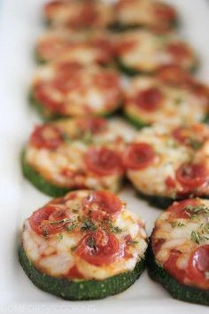 """Zucchini Pizza Bites. Tried and true! It was Perfect for my little three year old who just found out she is allergic to gluten. She missed pizza, her favorite food, but when I gave this to her, she said to me, """"Tis goooooood pitza, mommy"""" lol! It really tastes like pizza, so its cool."""