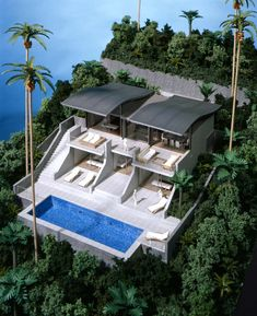 Finding The Best Deal When Looking For A Hotel. Have you booked a hotel room and showed up to find that the hotel was dumpy? Futuristic Architecture, Residential Architecture, Architecture Design, Modern Exterior, Exterior Design, Villa Luxury, Modern Villa Design, Hillside House, Modern Mansion
