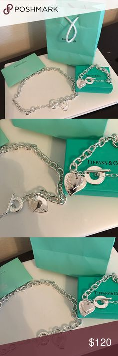 Tiffany Necklace and Bracelet Set New comes with everything on the picture. Jewelry Necklaces