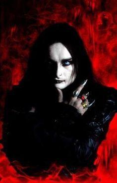 Cradle of filth Dani Vampyre red Dani Filth, Goth Music, Cradle Of Filth, Black Metal, Character Inspiration, Mona Lisa, Artwork, Image, Rock