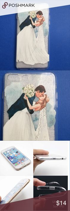 Bride and Groom iPhone Case 6s, 6Plus, 7, 7Plus Wedding season is upon us! Perfect gift for the Bride-to-be.  iPhone Case made out of Transparent Clear Soft Silicone. Beach Wave Accessories Phone Cases