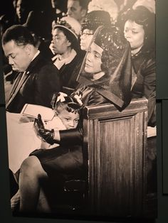 Coretta Scott King and her daughter Bernice. This is the famous Pulitzer Prize winning photograph that the first African-American to win one of these awards from a photograph received. It is amazing, sad and graceful on the same breath. I was at the Newseum and enjoyed this exhibit immensely.