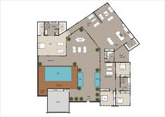 10 Contemporary House Designs With Floor Plan Perfect for Modern Family Bungalow House Design, Small House Design, Modern Bungalow, Small House Plans, House Floor Plans, Beautiful Small Homes, Ranch Style Homes, Modern Family, Contemporary Architecture