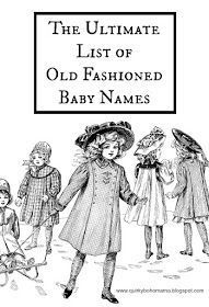 Old Fashioned Baby Names - I've been looking for something like this