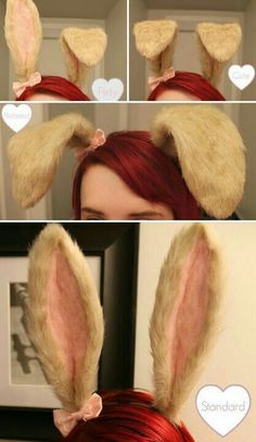 Bunny Ears (Pose-able) Cosplay Tutorial, Cosplay Diy, Halloween Cosplay, Halloween Costumes, Kid Costumes, Rabbit Costume, Bunny Costume, Ropa Color Pastel, Serpentina