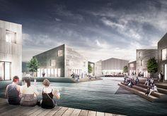 AECCafe.com - ArchShowcase - Sundbyen' Harbor Front Proposal in Ålesund, Norway by JAJA Architects
