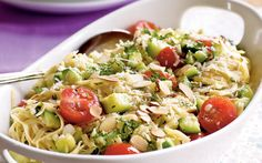 Pasta with Zucchini and Toasted Almonds from the Cooking Light Diet