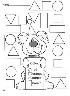 Crafts,Actvities and Worksheets for Preschool,Toddler and Kindergarten.Free printables and activity pages for free.Lots of worksheets and coloring pages. Preschool Learning, Kindergarten Worksheets, Learning Activities, Preschool Activities, Shape Activities, Printable Shapes, Teaching Shapes, Shapes Worksheets, Shapes Worksheet Preschool