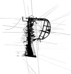industrial P typography