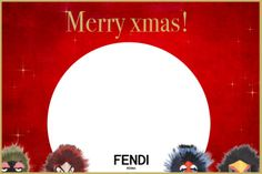 The gifts are almost ready under the Christmas tree, but do you want to add a fuzzy touch? Download and print the Fendi Bag Bugs Greeting cards!
