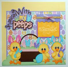 seriously cute easter layout