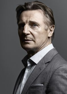 """Liam Neeson plays the main character in the """"Taken"""" franchise. He also plays qui gon jin in """"Star Wars Episode Liam Neeson, Hollywood Actor, Hollywood Stars, Beautiful Men, Beautiful People, Stars D'hollywood, Irish Men, British Actors, Best Actor"""