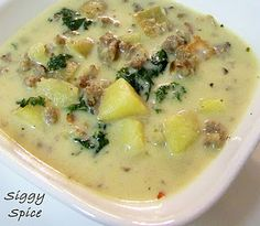better than olive garden's zuppa toscana--had this kind of soup at Brett and Brittany's place in January 2013--wow!
