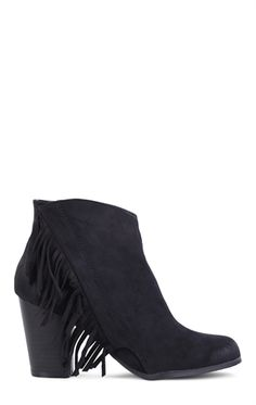 Short Western Booties with Side Fringe