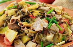 Cách làm Lòng xào dưa chua đơn giản tại nhà   Món ngon mỗi ngày Japchae, Ethnic Recipes