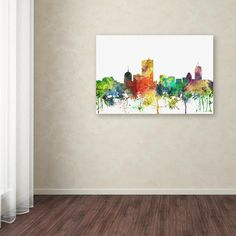 "22 in. x 32 in. ""Boston Mas. Skyline SP"" by Marlene Watson Printed Canvas Wall Art"