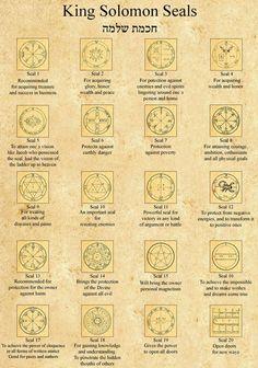 Sigils & Symbols King Solomon Seals [21 44]. Cool