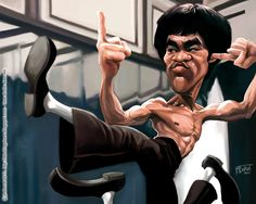 Bruce Lee caricature -- check out the others!