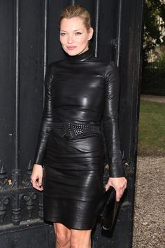 Kate Moss in head-to-toe leather