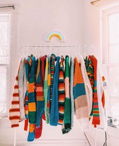 Hey there and welcome to my rainbow rack ? If you're ever having a bad day, just grab a sweater, throw it on, and your emotions will soon… – Rainbow Retro Outfits, Vintage Outfits, Cool Outfits, Fashion Outfits, Style Fashion, Mode Lookbook, Aesthetic Clothes, Thrifting, Style Inspiration