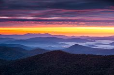 North Carolina Photograph - North Carolina Blue Ridge Parkway NC Autumn Twilight by Dave Allen Nc Mountains, North Carolina Mountains, Blue Ridge Mountains, Blue Ridge Parkway, Scenery Pictures, Landscape Pictures, Mountain Landscape, Sunrise Landscape, Thing 1