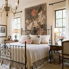 Home Interior Colors .Home Interior Colors French Country Bedrooms, French Country Decorating, European Bedroom, Modern Country, Bedroom Colors, Bedroom Decor, Bedroom Ideas, Home Interior, Interior Design