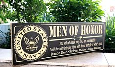 custom carved military sign Personalized Wood Signs, Custom Wood Signs, Bbq Signs, Military Signs, Man Of Honour, Us Marine Corps, Wooden Projects, Family Signs, Groomsman Gifts