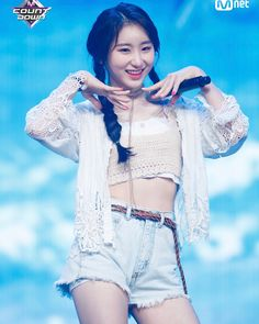 """PRODUCE48 (프로듀스48) di Instagram """"180827 M Countdown Naver Update With Lee Chaeyeon"""" Kpop Girl Groups, Korean Girl Groups, Kpop Girls, Stage Outfits, Kpop Outfits, Yuri, Secret Song, Japanese Girl Group, Famous Girls"""