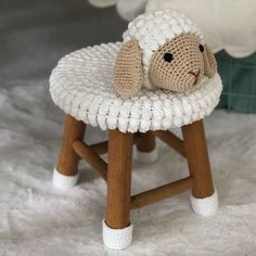 Crochet Animals, Crochet Toys, Stool Covers, Crochet Cushions, Kids Wood, Knitting Accessories, Baby Decor, Baby Toys, Baby Knitting