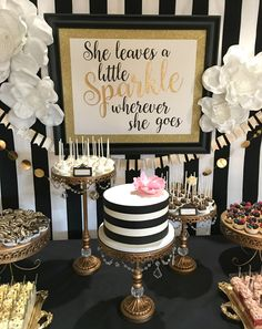 Image Result For Gold And Black Party Decorations 50th Birthday Cakes 60th Ideas