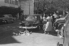 Rua Real Grandeza em Botafogo. Final dos anos 50.