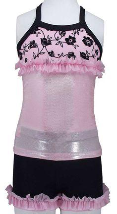 14848aafa30fe9 Pink With Black Velvet Flower Set -- Lexi-Luu Designs Inc.