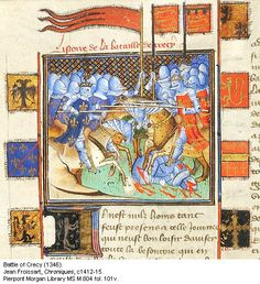 The Battle of Crécy, late 14th c.