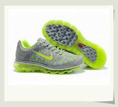 Men's Nike Air Max 2011 grey/volt green 429889-001B $54