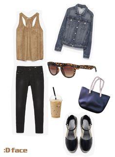 :Dface - Gafas de Sol 206 Brown Print & Bolso de Caucho negro Dface #takeaway #brown #marrón #icedcoffee #denim #sunglasses #gafasdesol #spring #primavera