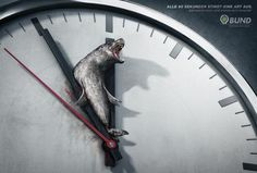 This award winning series of images was produced by Peppermill for B.U.N.D. eV, Germany's biggest environmental organisation. Its purpose was to highlight the threat of extinction to several of the world's most endangered species.